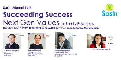 SASIN ALUMNI TALK Succeeding Success: Next Gen Va