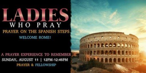 Prayer On The Spanish Steps Rome, Italy
