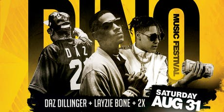 2019 Dino Music Festival | Daz Dillinger, Layzie Bone & 2x tickets