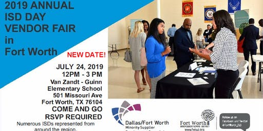 "2019 Annual ""ISD"" Day Vendor Fair in Fort Worth"