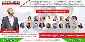 Birmingham Des OConnors Women in Business Conference Fr...