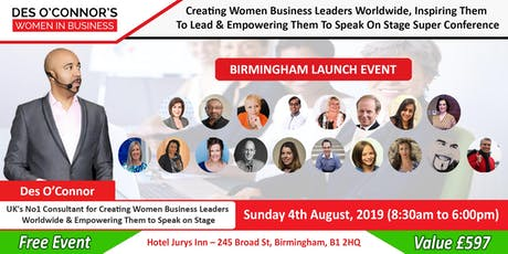Birmingham Des OConnors Women in Business Conference Free Event tickets