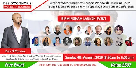 Free Birmingham Des OConnors Women in Business Conference tickets