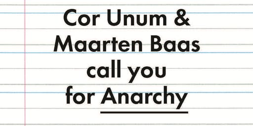 Design Contest Cor Unum – Anarchy – See, hear & learn