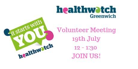 Healthwatch Greenwich - Volunteer Meeting tickets