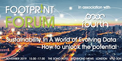 Footprint Forum: Sustainability In A World of Evolving Data – How to unlock the potential in association with Fourth