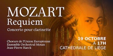 MOZART Requiem - Concerto pour clarinette - Cathédrale de Liège billets