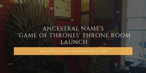 'Game of Thrones' Throne Room Launch at Ancestral Name