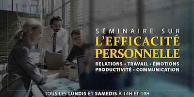 Séminaire sur l'efficacité personnelle | Atelier à Paris