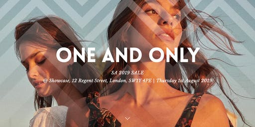 The One & Only designer sale Thursday 1st August