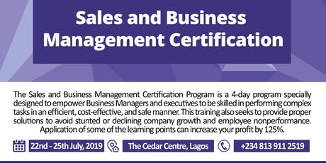 Sales and Business Management Certification tickets