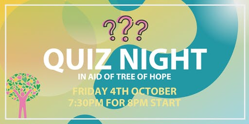 Quiz Night in aid of Tree of Hope