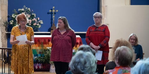 Loose Muse Poets perform in Church of St Lawrence-in-the-Square