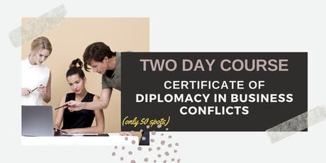 The Art of Conflict Resolution in Business: Singapore (1-2 November 2019) tickets