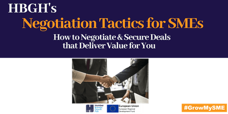 Negotiation Tactics for SMEs (Hull) tickets