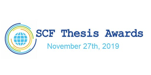 SCF Community Thesis Award 2019