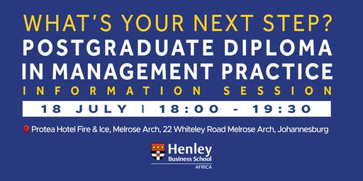 PGDip Information Session - at Melrose Arch | #HenleyAfrica