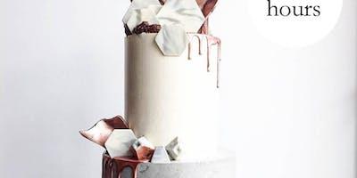 Buttercream Two Tier Concrete drip Cake Class