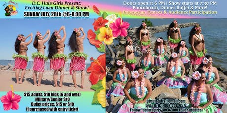 D.C. Hula Girls Exciting Luau & Dinner Show tickets