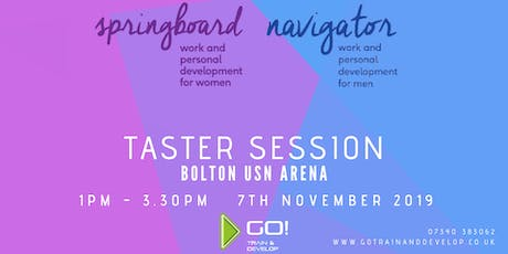 Springboard and Navigator Work and Personal Development - FREE Taster tickets