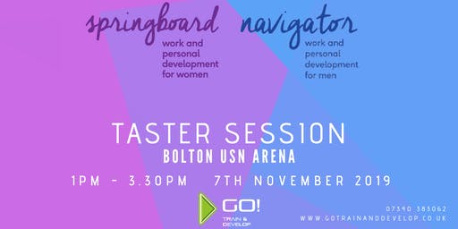 Springboard and Navigator Work and Personal Development - FREE Taster