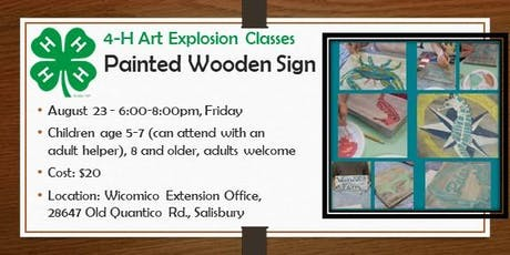 4-H ART Explosion Class - Wooden Sign Painting tickets