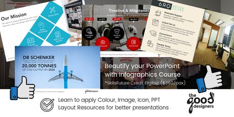 Beautify your Presentations with Infographics (SkillsFuture Eligible) tickets