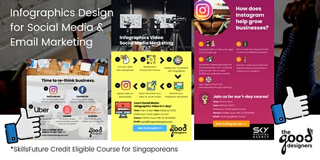 Infographics Design for Social Media Course (SkillsFuture Credit Eligible) tickets