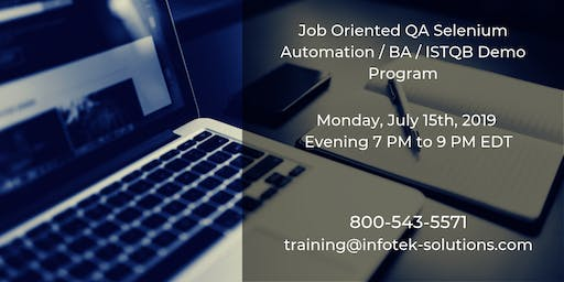 IT Job-Oriented QA Software Automation Testing / BA / ISTQB Demo Program