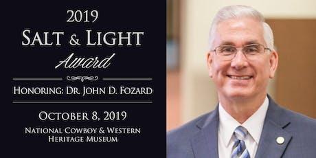 26th Annual Salt and Light Award Dinner tickets