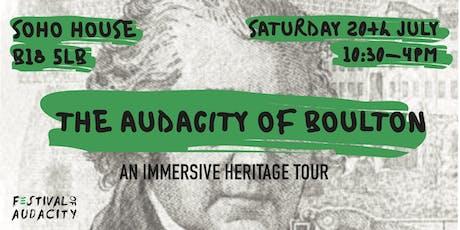 Don't Settle x Festival Of Audacity: The Audacity of Boulton Tour tickets