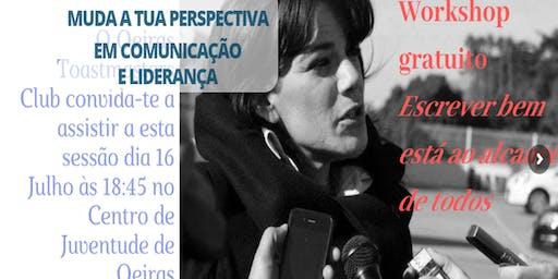 Workshop Cem Maneiras de Melhorar a Escrita, por Ana Salgado, Lexicógrafa