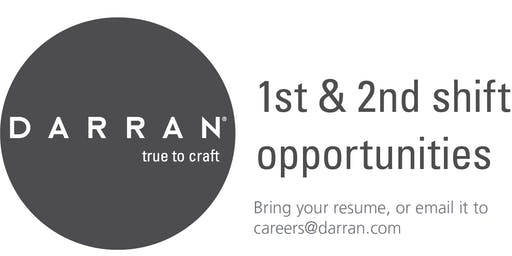 DARRAN Furniture 2-Day Job Fair