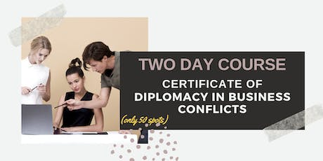 The Art of Conflict Resolution in Business: Den Haag (6-7 December 2019) tickets