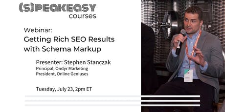 (Free Webinar) Getting Rich SEO Results with Schema Markup tickets