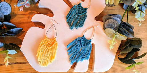 Macramé Earring Workshop with That's What She Thread
