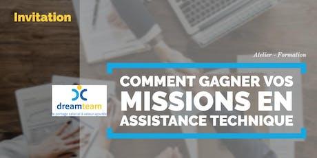 """Formation """"Comment gagner vos missions en assistance technique"""" - 1 août 2019 - Paris billets"""