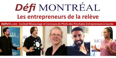 Concours Pitchs Entrepreneurs et Cocktail BBQ Terrasse Défi Montréal billets