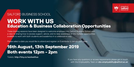Salford Business School - Work With Us: Briefing for Employers tickets