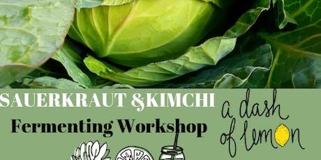 Fermenting Workshop - sauerkraut and kimchi.  tickets