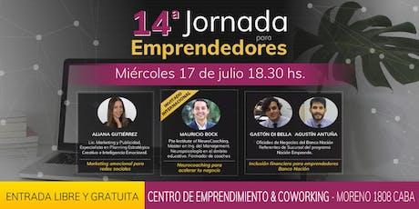 14ta Jornada para emprendedores entradas