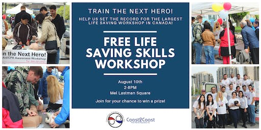 Train the Next Hero! FREE Life Saving Skills Workshop!