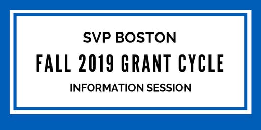 Fall Grant Cycle Information Session 1