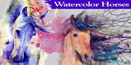 Majestic Horses - Beginner's EVENING Watercolor Class - Mount Ulla tickets