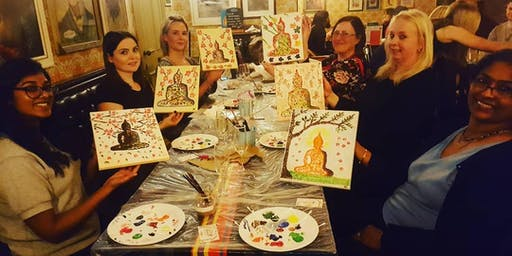 Prosecco and Paint- Learn to Paint a Buddha Inspired Canvas