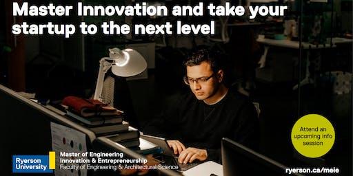 Master of Engineering Innovation and Entrepreneurship (MEIE) Information Session