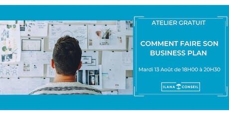 Atelier Gratuit : Comment faire son business plan  bilhetes
