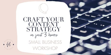 Craft your Content Strategy in 3 hours tickets