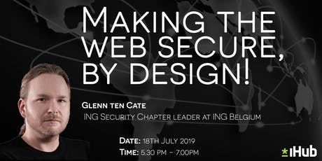 Making the web secure, by design!  tickets