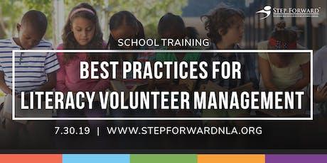 School Training: Best Practices for Literacy Volunteer Management  tickets